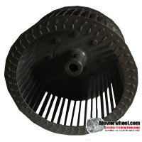 "Single Inlet Steel Blower Wheel 9-3/8"" Diameter 5"" Width 3/4"" Bore with Counterclockwise Rotation SKU: 09120500-024-S-T-CCW-001"