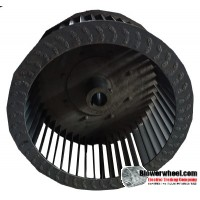 "Single Inlet Blower Wheel 9-1/2"" Diameter 5"" Width 7/8"" Bore with Clockwise Rotation SKU: 09160500-028-S-T-CW-001"