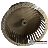 "Single Inlet Aluminum Blower Wheel 10-3/4"" Diameter 3-15/16"" Width 5/8"" Bore with Counterclockwise Rotation SKU: 10240330-020-A-T-CCW-001"