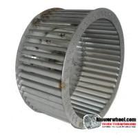 """Single Inlet Blower Wheel 11"""" D 5-1/8"""" W 18mm Bore SKU: 11000504-18mm-HD-SS304-CW"""
