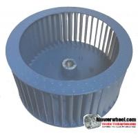"Single Inlet Aluminum Blower Wheel 12-3/8"" D 6-1/8"" W 1"" Bore-Clockwise  rotation- with inside hub SKU: 12120604-100-HD-A-CW"