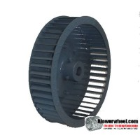 """Single Inlet Blower Wheel 13"""" D 3-1/8"""" W 28mm Bore SKU: 13000304-28MM-HD-S-CW-IH-OH"""
