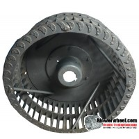 "Single Inlet Blower Wheel 13-3/4"" Diameter 5"" Width 1-5/8"" Bore with Clockwise Rotation with re-rods and rings SKU: 13240500-120-S-T-CW-R-W-001"