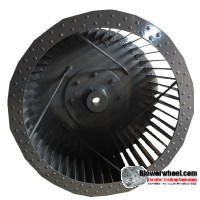"Single Inlet Steel Blower Wheel 15-1/2"" Diameter 8-7/8"" Width 1"" Bore with Counterclockwise Rotation-ONLY 1 IN-STOCK SKU: 15160828-100-S-T-CCW-001"