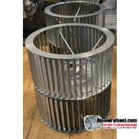 """Double Inlet Galvanized Steel Blower Wheel 18"""" D 18-1/4"""" W 1-15/16"""" Bore-Clockwise-Counterclockwise  rotation- with inside hub and re-rods SKU: 18001804-130-HD-GS-CWCCWDW-R"""