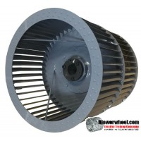 """Double Inlet Steel Blower Wheel 18"""" D 18-1/4"""" W 2"""" Bore-Clockwise  rotation- with Q style taper lock hub and re-rods- SKU: 18001808-200-HD-S-CWDW-R-QTLH"""