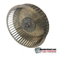 """Single Inlet Steel Blower Wheel - Clockwise Rotation - Heavy Duty - 1"""" Bore - Inside Hub - SKU 13080304-100-HD-S-CW-003-Q1"""