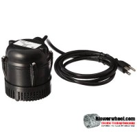 1/150 HP - 205 GPH - Small Submersible - 6' Power cord sku - 501004 item - 501004- Sold In Quantity of 1