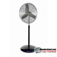 "Industrial Non Oscillating Industrial 24"" Pedestal Air Circulator"