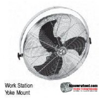 "Residential 20"" Yoke Mount Air Circulator"