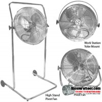 "Residential 18"" Pivot Stand Air Circulator"