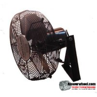 "Non Oscillating 16"" Wall Mtg Air Circulator HP 1/4"