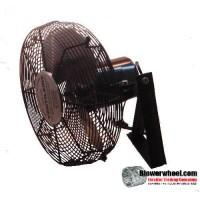 """Non Oscillating 16"""" Wall Mtg Air Circulator HP 1/4"""