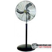 "Heavy Duty Non Oscillating 24"" Pedestal Air Circulator"