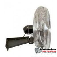 "Heavy Duty Non Oscillating 24"" Wall Mtg Air Circulator"