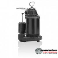 bcS50 1/2 HP Durable cast-Iron Volute Submersible Sump Pump - 65 GPM @ 5' sku - ITM item - ITM- Sold In Quantity of 1