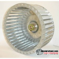 "Lau Single Inlet Galvanized Steel Blower Wheel 6-5/16"" diameter 3-7/16"" width 1/2"" bore  Clockwise Rotation"