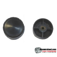 "large-black-circular-knob-with-set-screw- Top Diameter 2"", Bottom Diameter 2-1/16"", Width 7/8"""