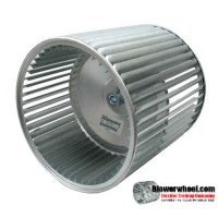 "Lau Double Inlet Galvanized Steel Blower Wheel 9-1/2"" diameter 9-1/2"" width 1"" bore  Clockwise-Counterclockwise Rotation"