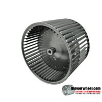 "Lau Double Inlet Galvanized Steel Blower Wheel 11-3/4"" diameter 9-1/2"" width 1/2"" bore CONVEX Center Disc Clockwise Rotation"