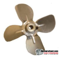 "Fan Blade 2"" Diameter - SKU:FB-0200-4-F-AS-CW-005-B-001-Q3-Sold in Quantity of 3"