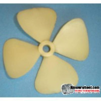 "Fan Blade 3-3/8"" Diameter - SKU:FB-0314-4-P-CW-010-001-Q4-Sold in Quantity of 4"