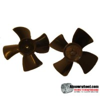 "Fan Blade 4"" Diameter - SKU:FB-0400-4-R-P-CW-001-Q20-Sold in Quantity of 20"