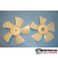 "Fan Blade 4"" Diameter - SKU:FB-0400-5-R-P-CW-001-Q1-Sold in Quantity of 1"