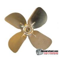 "Fan Blade 6"" Diameter - SKU:FB-0600-4-R-AS-CW-005-B-001-Q3-Sold in Quantity of 3"