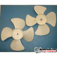 "Plastic Fan Blade 6"" Diameter - SKU:FB-0600-4-R-P-CW-001-Q1-Sold in Quantity of 1"