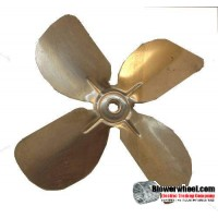 "Fan Blade 6.5"" Diameter - SKU:FB-0616-4-R-AS-CCW-010-B-001-Q3-Sold in Quantity of 3"
