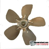 "Fan Blade 8"" Diameter - SKU:FB-0800-5-F-AS-CCW-010-B-001-Q1-Sold in Quantity of 1"