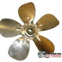 "Fan Blade 8"" Diameter - SKU:FB-0800-5-F-AS-CCW-016-B-001-Q1-USED  AND SOLD AS IS"