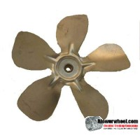 "Fan Blade 8"" Diameter - SKU:FB-0800-5-R-AS-CCW-010-B-001-Q1-Sold in Quantity of 1"