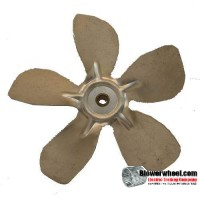 "Fan Blade 8"" Diameter - SKU:FB-0800-5-R-AS-CW-010-B-001-Q1-Sold in Quantity of 1"