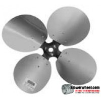 "Fan Blade 24"" Diameter - SKU:FB2400-4-CW-23P-H-AS-002-Q2-Sold in Quantity of 2"