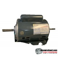 Electric Motor - General Purpose - GE - ge5kc49qg9347x -¾ hp 1425 rpm 115/220 volts -Resilient Base Double Shaft- SOLD AS IS