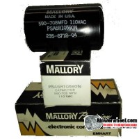 Capacitor - Mallroy - cap-590/708-110v-AC -sold as NEW