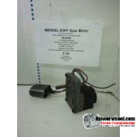 Electric Motor - Gear Motor - Merkel Koff - B-3 420 RP 265 -280 rpm 115VAC volts