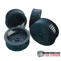"""Single Inlet Steel Blower Wheel 7-1/2"""" Diameter 4-1/8"""" Width 1/2"""" Bore Counterclockwise rotation with Outside Hub and Re-Rods"""