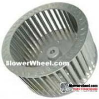 "Single Inlet Steel Blower Wheel - Clockwise Rotation - Heavy Duty - 3/4"" Bore - outside Hub - SKU 11000404-024-HD-S-Riveted-CW-O-003-Q1"