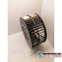 "Single Inlet Steel Blower Wheel 10-13/16"" Diameter 3-1/8"" Width 5/8"" Bore Counterclockwise rotation with an Inside Hub"
