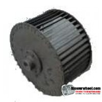 """Single Inlet Steel Blower Wheel 6"""" Diameter 3-1/8"""" Width 1/2"""" Bore Clockwise rotation with Outside Hub and Re-Rods"""