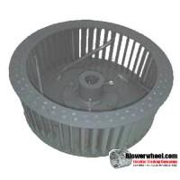 """Single Inlet Blower Wheel 7"""" D 3-1/8"""" W 5/8"""" Bore SKU: 07000304-020-HD-S-Riveted-CW-R"""