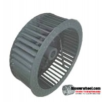 "Single Inlet Steel Blower Wheel 20"" Diameter 6-7/8"" + cone Width 1-3/16"" Bore Clockwise rotation with an Outside Hub"