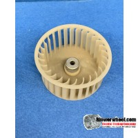 """Single Inlet Plastic Blower Wheel 2-3/4"""" Diameter 1-1/4"""" Width 1/4"""" Bore with Counterclockwise Rotation SKU: 02240104-008-PS-CCW-001"""