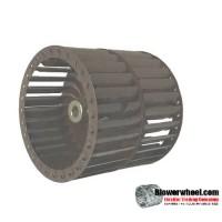 "Double Inlet Steel Blower Wheel 4-1/2"" Diameter 4"" Width 3/8"" Bore with Counterclockwise Rotation SKU: 04160400-012-S-T-CCWDW-001"