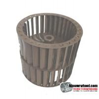 "Double Inlet Steel Blower Wheel 4-1/2"" Diameter 4"" Width 3/8"" Bore with Clockwise Rotation SKU: 04160400-012-S-T-CWDW-001"
