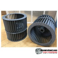"""Double Inlet Steel Blower Wheel 7-1/2"""" Diameter 7-1/4"""" Width 3/4"""" Bore Clockwise rotation with a Single Neck Hub"""
