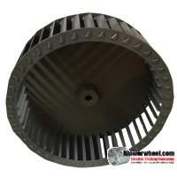 "Single Inlet Steel Blower Wheel 10-3/4"" Diameter 3-1/8"" Width 1/2"" Bore with Counterclockwise Rotation SKU: 10240304-016-S-T-CCW-001"